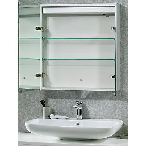 Buy john lewis led trace double illuminated bathroom for Bathroom cabinets john lewis