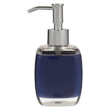 Buy House by John Lewis Cubi Soap Dispenser, Navy Online at johnlewis.com