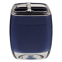 Buy House by John Lewis Cubi Toothbrush Holder, Navy Online at johnlewis.com