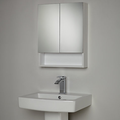 Buy house by john lewis equate mirrored bathroom cabinet for Bathroom cabinets john lewis