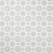 Buy John Lewis Snowflake Christmas PVC Tablecloth Fabric, Silver/White Online at johnlewis.com