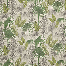 Buy John Lewis Liana Furnishing Fabric, Green Online at johnlewis.com