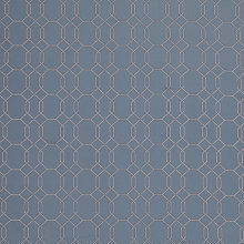 Buy Genevieve Bennett for John Lewis Spot Lattice Curtain, Blue Online at johnlewis.com