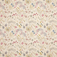 Buy Voyage Flora Linen Spring Fabric, Purple Online at johnlewis.com