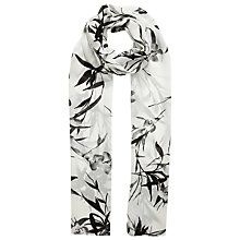 Buy Jacques Vert Bamboo Print Scarf, Cream/Black Online at johnlewis.com