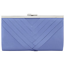 Buy Jacques Vert Pleat Clutch Bag, Light Blue Online at johnlewis.com