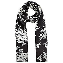 Buy Jacques Vert Eastern Floral Print Scarf, Multi Black Online at johnlewis.com