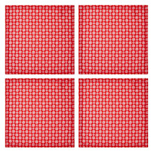 Buy John Lewis Snowflake Napkin, Set of 4, Red / White Online at johnlewis.com