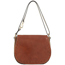 Buy Jaeger Leather Saddle Bag, Camel Online at johnlewis.com