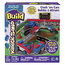 Buy Kinetic Sand Crash 'Em Cars Online at johnlewis.com