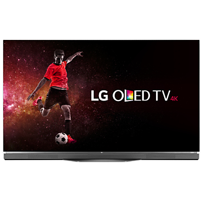 "LG OLED65E6V OLED HDR 4K Ultra HD 3D Smart TV, 65"" with Freeview HD, Harman / Kardon Soundbar Stand, Picture-On-Glass Design & 2 x 3D Glasses, UHD Premium"