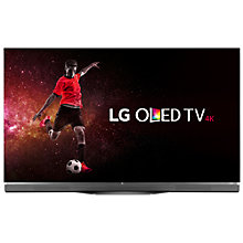 "Buy LG OLED65E6V OLED HDR 4K Ultra HD 3D Smart TV, 65"" with Freeview HD, Harman / Kardon Soundbar Stand, Picture-On-Glass Design & 2 x 3D Glasses, UHD Premium Online at johnlewis.com"