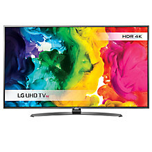"Buy LG 49UH661V LED HDR 4K Ultra HD Smart TV, 49"" With Freeview HD/freesat HD & Metallic Design +  Sound Bar & Subwoofer Online at johnlewis.com"