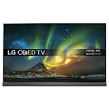 "Buy LG OLED65G6V Signature OLED HDR 4K Ultra HD 3D Smart TV, 65"" with Freeview HD/Freesat HD, Harman / Kardon Soundbar Stand, Picture-On-Glass Design & 2 x 3D Glasses, UHD Premium Online at johnlewis.com"