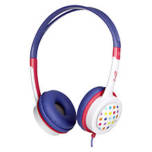Buy ZAGG ifrogz Little Rockerz Children's Volume Limiting On-Ear Headphones, Purple Owl & Dots Online at johnlewis.com