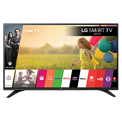 "LG 32LH604V LED HD 1080p Smart TV, 32"" With Freeview HD, Built-In Wi-Fi, True Black Panel & Metallic Design"