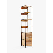 Buy west elm Industrial Modular 43cm Open and Closed Storage Bookshelf Online at johnlewis.com