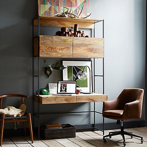 Buy west elm industrial modular 49 desk john lewis - West elm office desk ...