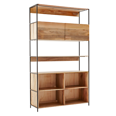 west elm Industrial Modular 124cm Open and Closed Storage Bookshelf