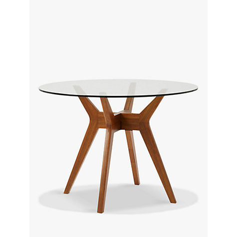 buy west elm jensen 4 seater round dining table online at johnlewis