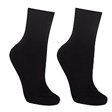 Buy John Lewis Organic Cotton Blend Roll Top Ankle Socks, Pack of 2 Online at johnlewis.com