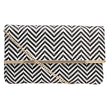 Buy Miss KG Haeleigh Clutch Bag, Black/White Online at johnlewis.com
