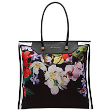 Buy Ted Baker Hanita Forget Me Not Foldaway Tote Bag, Black Online at johnlewis.com