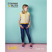 Buy Conway Bliss For Debbie Bliss Lolli Children's Zip Front Cardigan Knitting Pattern, 019 Online at johnlewis.com