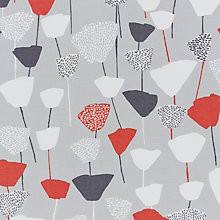 Buy John Lewis Elin Curtain, Red / Grey Online at johnlewis.com