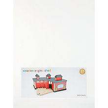 Buy John Lewis Train Set Wooden Engine Shed Online at johnlewis.com