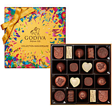 Buy Godiva 'Collection Anniversaire' Box of Chocolates, 18 Pieces Online at johnlewis.com