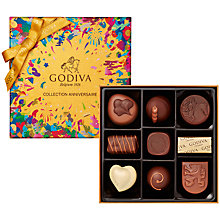 Buy Godiva 'Collection Anniversaire' Box of Chocolates, 9 Pieces Online at johnlewis.com