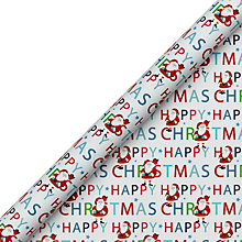 Buy John Lewis Grand Tour Santa Gift Wrap, 4m, Red Online at johnlewis.com