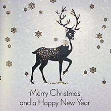Buy Five Dollar Shake Glitsy Stag Christmas Cards, Box of 6 Online at johnlewis.com