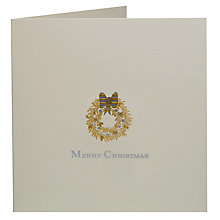 Buy Julie Bell Stationery Golden Wreath Christmas Cards, Pack of 5, Cream Online at johnlewis.com