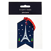 Buy John Lewis Grand Tour Christmas Gift Tags, Navy, Pack of 8 Online at johnlewis.com