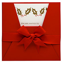 Buy Julie Bell Stationery Holly Invitations, Pack of 5 Online at johnlewis.com