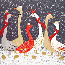 Buy Art File Festive Geese Luxury Christmas Cards, Pack of 8 Online at johnlewis.com
