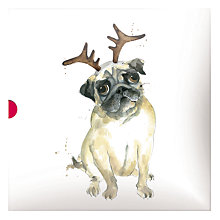 Buy Medici Festive Pug And Friends Christmas Cards, Box of 16 Online at johnlewis.com
