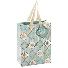 Buy John Lewis Ostravia Snowflake Tile Gift Bag, Small, Mint Online at johnlewis.com