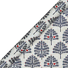 Buy John Lewis Chamonix Flitter Tree Gift Wrap, 3m, Navy Online at johnlewis.com