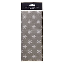 Buy John Lewis Snowshill Snowflake Tissue Paper, Pack of 10 Online at johnlewis.com