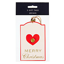 Buy John Lewis Ostravia Heart Jewel Gift Tags, Pack of 2 Online at johnlewis.com
