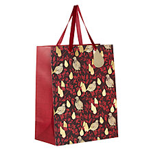 Buy John Lewis Ruskin House Partridge Gift Bag, Medium, Red Online at johnlewis.com