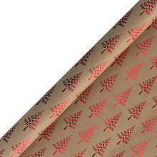 Buy John Lewis Chamonix Foil Tree Christmas Gift Wrap, 3m, Red Online at johnlewis.com