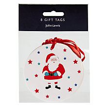 Buy John Lewis Grand Tour Santa 'Happy Christmas' Gift Tags, Pack of 8 Online at johnlewis.com