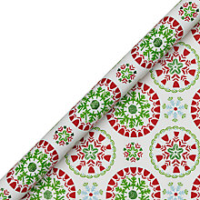 Buy John Lewis Snowflake Glitter Gift Wrap, 3m, Red Green Online at johnlewis.com