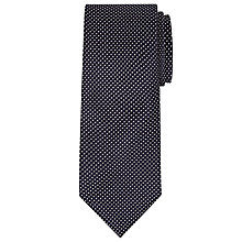 Buy John Lewis Made in Italy Mini Square Silk Tie, Navy/White Online at johnlewis.com