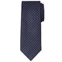 Buy John Lewis Made in Italy Jacquard Diamond Tie, Navy/White Online at johnlewis.com