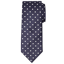 Buy John Lewis Made in Italy Matte Base Floral Silk Tie, Navy/White Online at johnlewis.com
